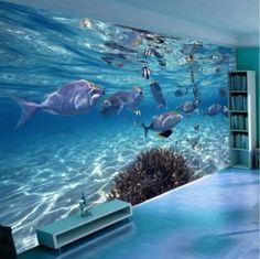 3D underwater fish wallpaper