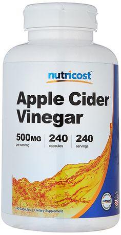 Nutricost Apple Cider Vinegar 500mg