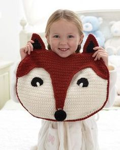 Free crochet pattern - Kids will love cuddling up with this friendly fox, made with a special flap for stashing pajamas. Shown in Bernat Super Value..
