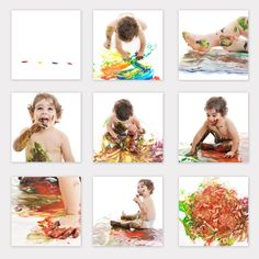 Super fun! Instead of a cake-smash (or for an older baby/toddler) do a paint-shoot. Still messy good fun!