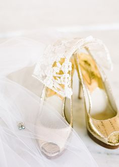 Michael Kors gold heels | Photos by Birds of a Feather | 100 Layer Cake