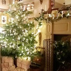 lovely Christmas tree with glass ornaments
