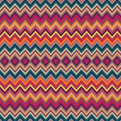 """Dariu"" listrado chevron multicolorido (estampa digital)"