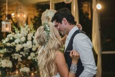 Bride and Groom Embrace // Follow us on Instagram and Facebook @thebohemianwedding