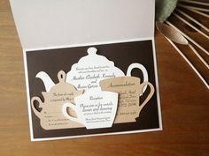 Tea set invitation