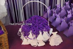 Time to Partay!: Purple and White Bridal Shower