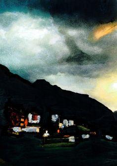Room with a view. Saas Fee, Mountain Paintings, Zermatt, Switzerland, Desktop Screenshot, Room, Bedroom, Mountain Drawing, Rum