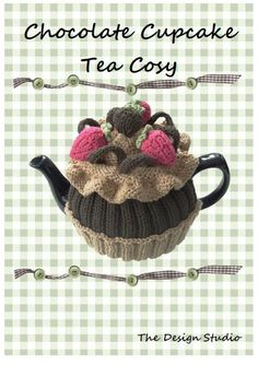 Chocolate Cupcake Tea Cosy Hand Knitting by TheDesignStudioKnits, £3.00