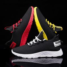 Fashion Men Sneakers Breathable Casual No-slip Men Vulcanize Shoes Male Air Mesh Lace up Wear-resistant Shoes tenis masculino Fashion Casual, Style Casual, Sport Casual, Fashion Shoes, Men Casual, Mens Fashion, Dance Fashion, Casual Boots, Casual Sneakers