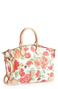 Cute! Love the floral print on this Dooney & Bourke satchel.