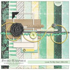 Love To My Dad | Mini kit only $1.50 by Scrapyrus Designs This mini kit coordinates with Love To My Mom full kit and contains: 1 solid paper 8 patterned papers 11 elements 1 journal card #digiscrap #scrapyrus #digiscrapbooking