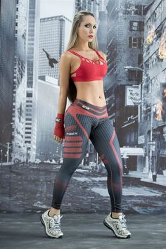DareDevil - Super Hero Leggings - Fiber - Roni Taylor Fit  - 2 These DareDevil Super Hero Leggings from Fiber are great for working out, casual wear or even dressing up for Halloween. You will love these exclusive leggings that are made from the highest q (Diet Workout Lifestyle)