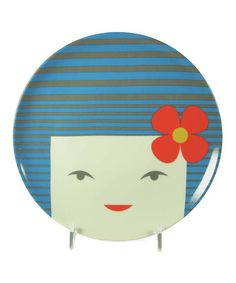 Take a look at this Blue Kokeshi Doll Plate by Miya Company on #zulily today! $15 !!