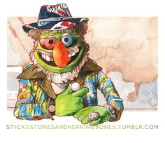 Justin Lawrence DeVine's series of Muppets characters as Twin Peaks characters