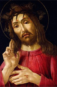 ❤ - SANDRO BOTTICELLI ( 1445 - 1510) - The Resurrected Christ. Detroit Institute…