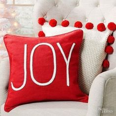 Personalized Christmas Gifts, Diy Christmas Gifts, All Things Christmas, Christmas Home, Holiday Crafts, Christmas Decorations, Xmas, Holiday Decor, Christmas Cushions To Make