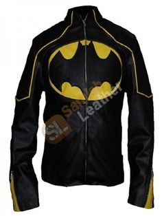 New Batman Motorcycle Men Jacket  This splendid yet bold-looking Batman biker men leather Jacket is prepared of 100% Synthetic leather and carries inner viscose lining. The front 'Bat' Logo and the yellow designed stripes on front and cuffs, zippered front closure and cuffs, and stylish erect collar, makes it a must-to-have piece of clothing that could be unsurpassed for informal activities, dates, shopping, college, parties, for Cosplay costume and bikers, worldwide shipping together with…