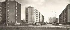 Pohled do Družstevní ul. Multi Story Building, Historia