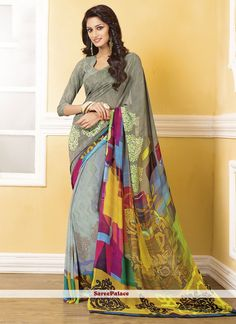 Aesthetic Georgette Casual Saree