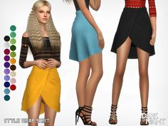 Style Wrap Skirt by DarkNighTt at TSR • Sims 4 Updates