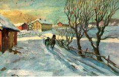 Julekort/ Nyttårskort Thomas Frang Utg Mittet  stemplet 1934