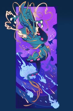 Mega Rayquaza's Draco Meteor! by roroto531.deviantart.com on @DeviantArt