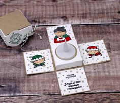 """On day five of Days of Christmas"""" I& show you a mini explosive box. I used the set """"Christmas Workshop"""" by Stampin & # Up! 8 Days Of Christmas, Christmas Gift Box, Stampin Up Christmas, Holiday Tree, Christmas Cards, Fabric Crafts, Paper Crafts, Stampin Up Weihnachten, 3d Craft"""
