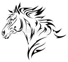 tribal horse tattoos - Sutton Curtis you should get this on your ankle or something :) Tribal Horse Tattoo, Tribal Tattoos, Horse Tattoos, Stencil Patterns, Stencil Art, Stenciling, Arte Tribal, Tribal Art, Horse Head