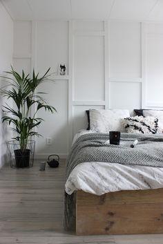 huisjeaandehaven, bedroom, basic, stoer, slaapkamer, diy, lattenwand, bedombouw, steigerhout, blog