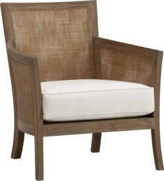 Blake Grey Wash Lounge Chair with Cushion  | Crate and Barrel  Like this at all x2? With a slate blue cushion?