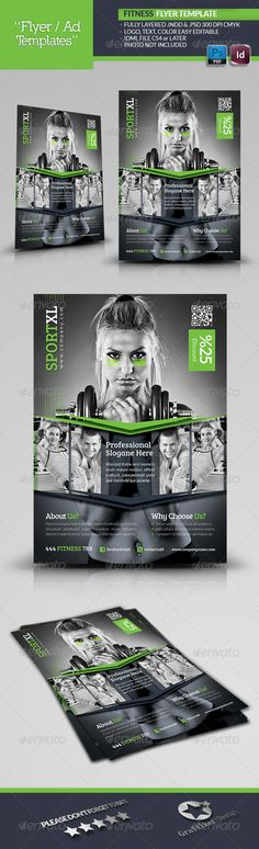 Fitness Time Flyer Template - Corporate Flyers