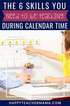 How to Use Calendar Time to Teach Fundamental Skills