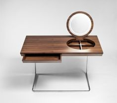 Princess is a cool dressing table designed by Olgoj Chorchoj studio for Process. There aren't many contemporary dressing tables out there and, if speak Minimalist Dressing Tables, Contemporary Dressing Tables, Dressing Table Design, Dressing Table Mirror, Dressing Room, Cool Tables, Elegant Table, Modern Table, Home And Deco