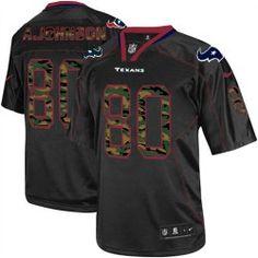 Mens Nike Houston Texans http://#80 Andre Johnson Elite Camo Fashion Black Jersey $129.99