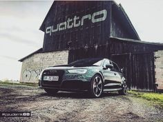 Audi RS3 with a quattro barn