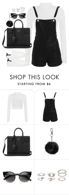 """Untitled#4461"" by fashionnfacts ❤ liked on Polyvore featuring WearAll, Bardot, Yves Saint Laurent, Topshop, ZeroUV, Charlotte Russe and adidas Originals"
