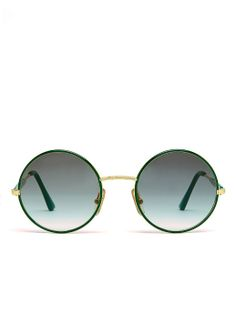 Vintage Burberry Round Green/Grey Sunglasses. #AmericanApparel