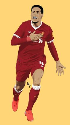 Fc Liverpool, Liverpool Football Club, Premier League Soccer, Virgil Van Dijk, Original Artwork, Athlete, Wrestling, Wallpaper, Sports
