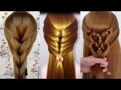 Como Hacer Peinados Faciles y Bonitos & Trenzas Faciles y Bonitas - Peinados para niñas(48 - YouTube