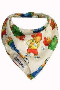 Paddington Bear Dribble Bib Folds of material catch the spills and crumbs like no other. Wash and wear 100% cotton top layer designed with extra material that naturally creates hills and valleys. $13.50