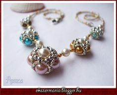 Free tutorial in photos - translate written directions Sugar Silk Necklace - JEWEL MANIA
