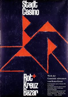 """Rot Kreuz Bazar"" Poster, Design Armin Hofmann, 1953"