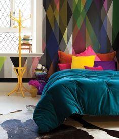 O charme das almofadas coloridas.