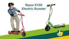 Razor E100 Electric Scooter #razor #e100electricscooter #electricscooter Razor Electric Scooter, Public Transport, Cool Toys