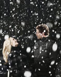 Klaroline in the snow