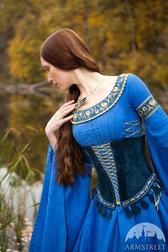 """Medieval Style Suede Corset Belt """"Lady of the Lake"""""""