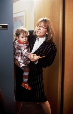 """J.C. Wiatt (Diane Keaton) """"I can't have a baby because I have a 12:30 lunch meeting."""" Baby Boom (1987)"""