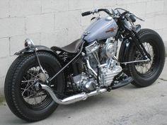 Nice Harley Panhead bobber.