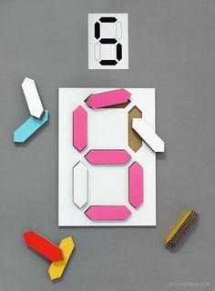 Digital Number Puzzle - Mr Printables / DIY templates