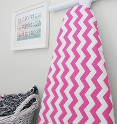 LAST ONE Ironing Board Cover - Chevron in fuchsia pink - discontinued fabric Sewing Projects For Kids, Sewing For Kids, Craft Projects, Craft Ideas, Sewing Hacks, Sewing Ideas, Sewing Patterns, Crafty Craft, Crafting